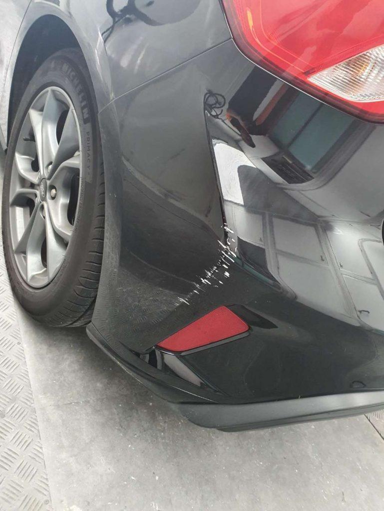 bumper scuff repair before image